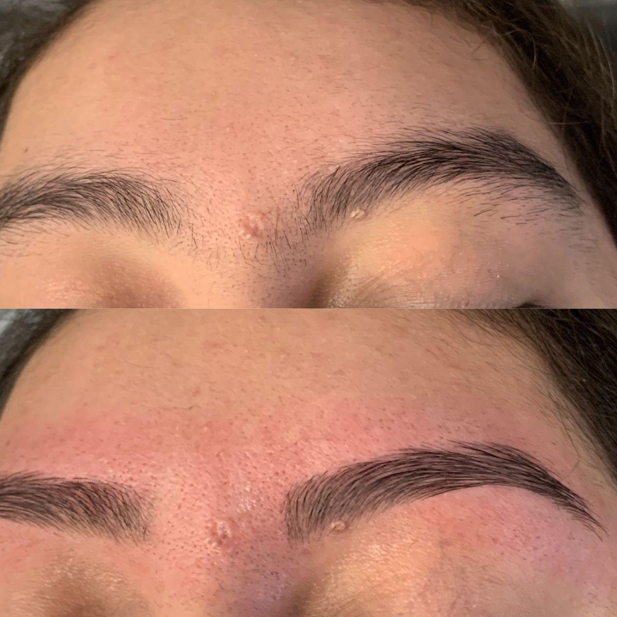 Eyebrow wax before and after in 2020 waxed eyebrows