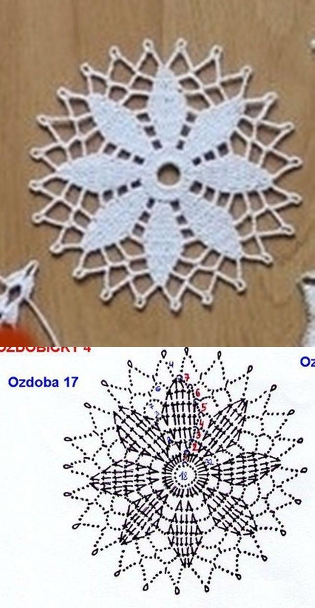 snowflake 537 | squizee | Pinterest | Häkeln, Häkelmuster und ...