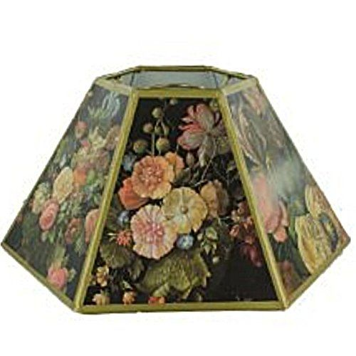 Upgradelights Floral With Black Background 12 Inch Chimney Style Oil Lampshade Replacement Click Image For More Deta Floral Lampshade Lamp Shade Black Floral