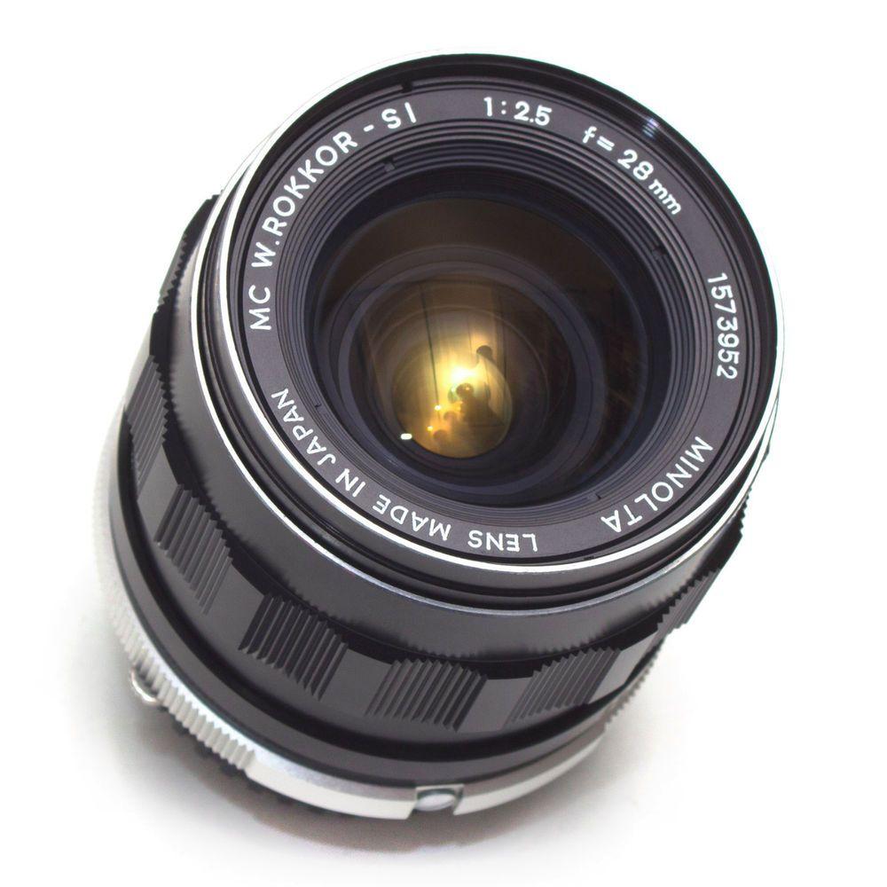 Rokkor Si 28mm F2 5 Wide Angle Prime Lens Mc Minolta Md Sr Fit Film Digital Exc Vintage Lenses Cameras For Sale Film Camera