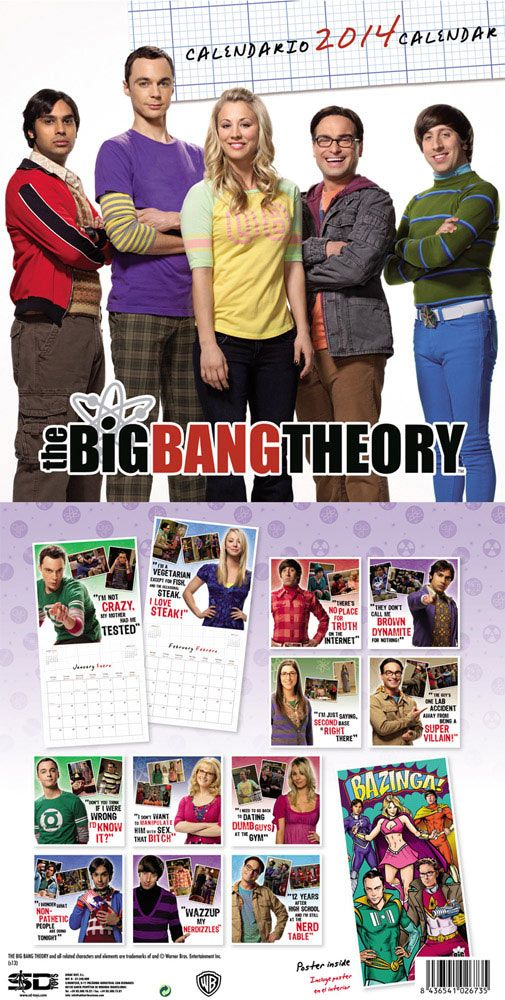 Calendario The Big Bang Theory 2014. En inglés y español