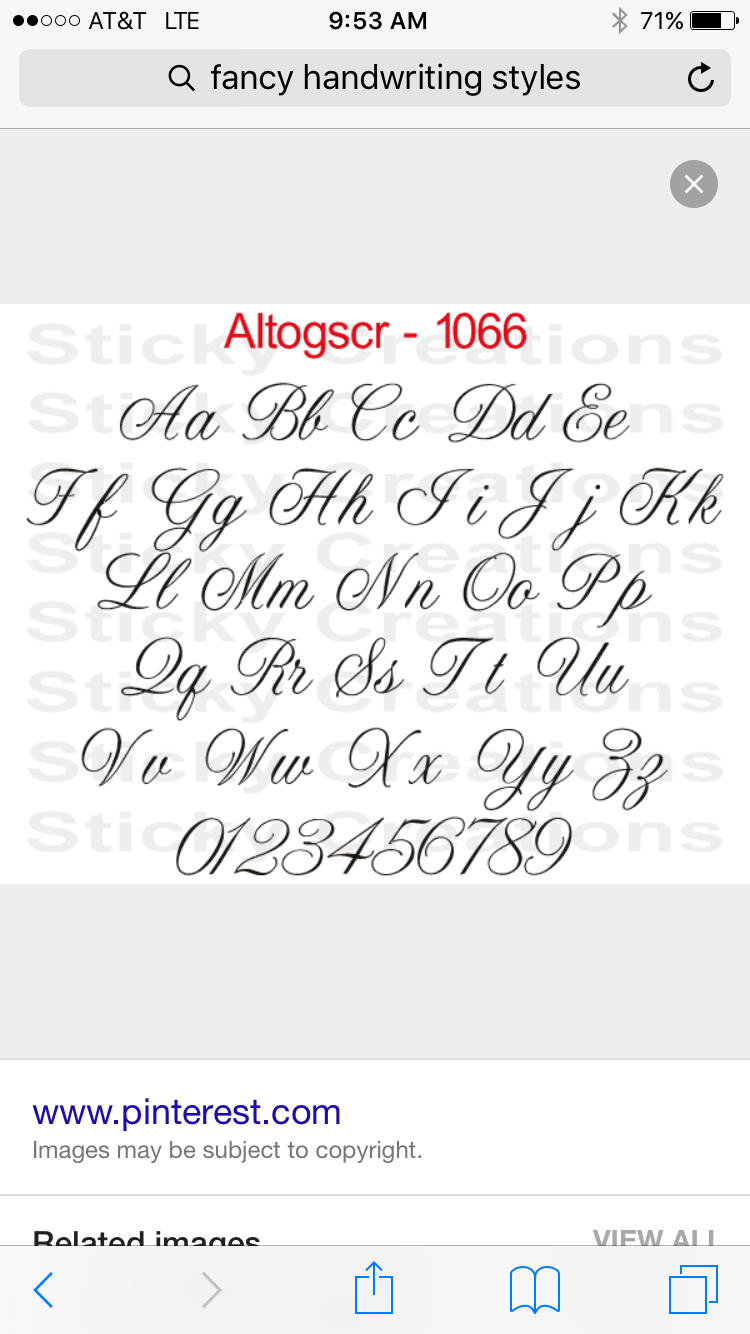 Lettering Styles Creative Finger Satin Stitch Types Of Font Sleeve Handwriting Toe