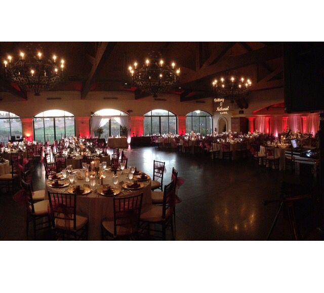 Wedding Reception Set Up At The Bridges Golf Club In San Ramon Ca