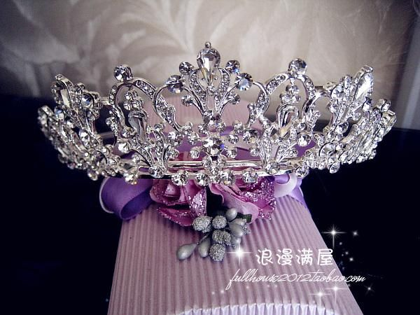 $40 Sparkling Crystal bride hair accessories wedding tiaras and crowns for sale rhinestone pageant crowns head jewelry hair ornament-inHair Jewe...