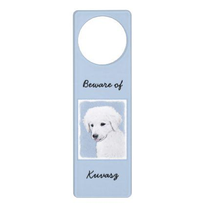 Kuvasz Door Hanger - home gifts ideas decor special unique custom individual customized individualized