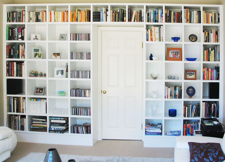 Custom built bookcase around door|interfar.com.au - Custom Built Bookcase Around Door|interfar.com.au Wall Units