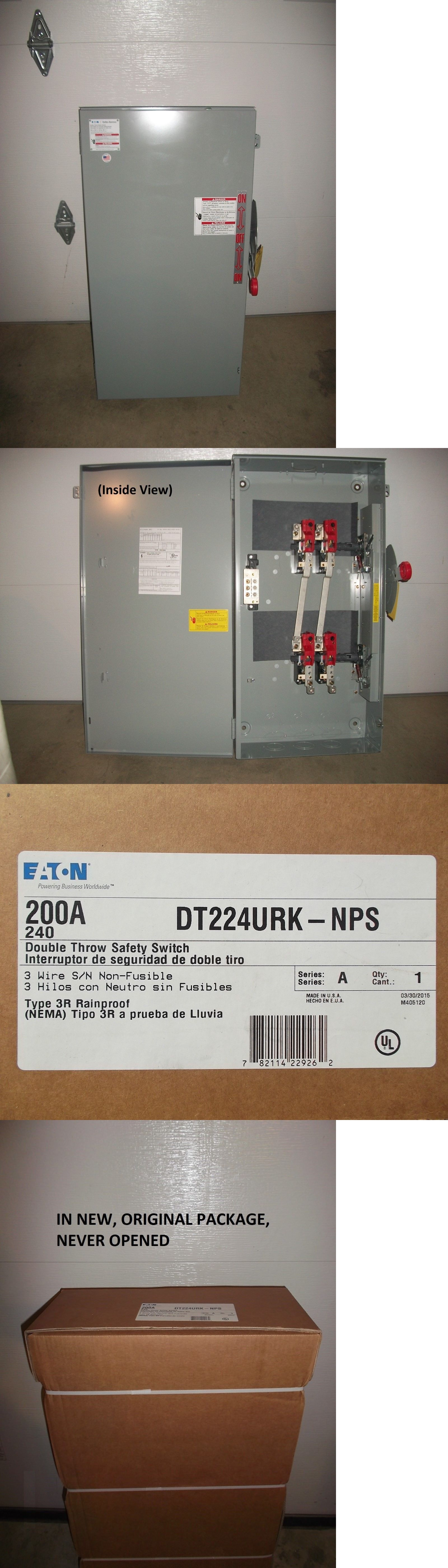 Circuit Breakers and Fuse Boxes 20596 Eaton Double Throw