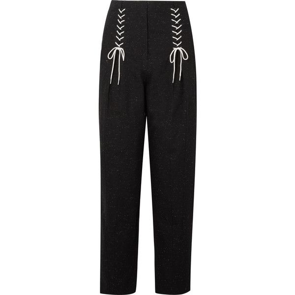 Easron Lace-up Cotton-blend Tapered Pants - Black Tibi x1tQFnd