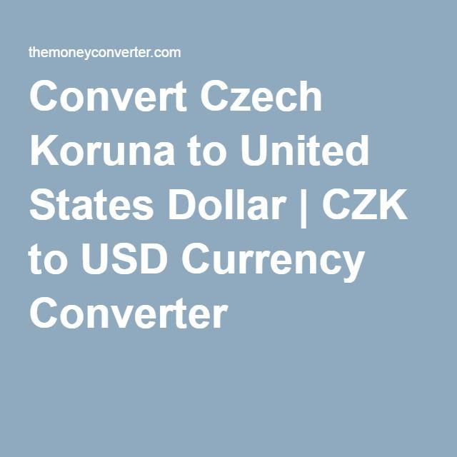 Czech Koruna To United States Dollar
