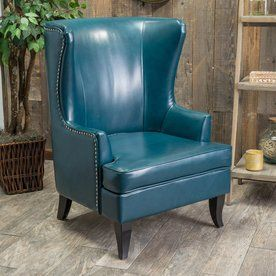 Best Selling Home Decor Canterbury Teal Bonded Leather Chair