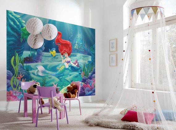 Photo Wall Decal Mural Photography Wallpaper Disney Ariel   The Little  Mermaid   Childrenu0027s Art Wall Decals Part 89