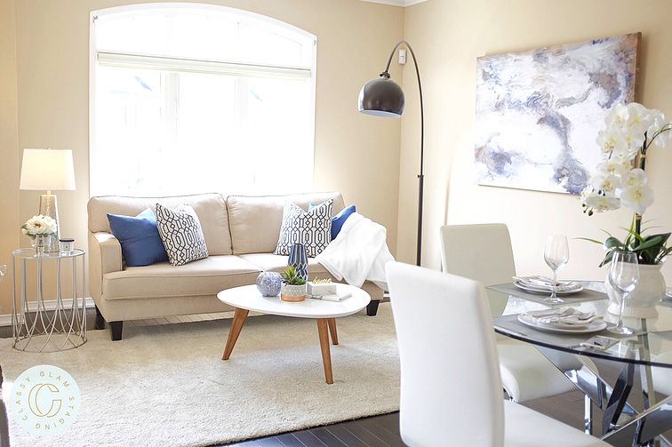 Open Concept Living Dining Areas Home Staging Living Room Decor Classyglamstaging Home Staging Living Room Living Room Decor