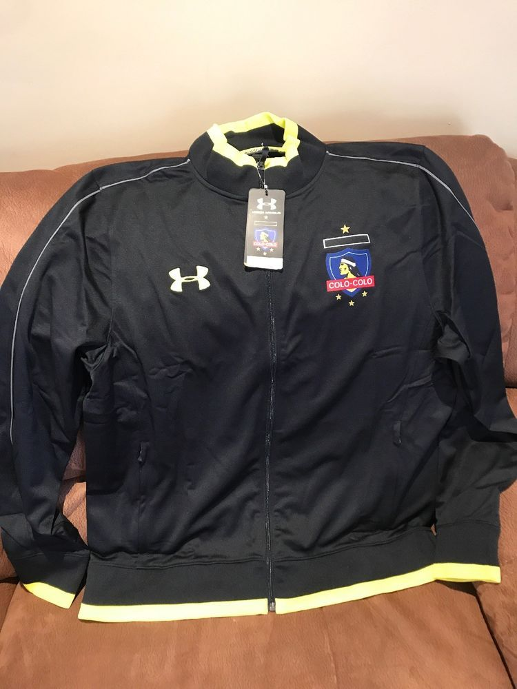 Under armour black colo colo soccer Track jacket NWT size