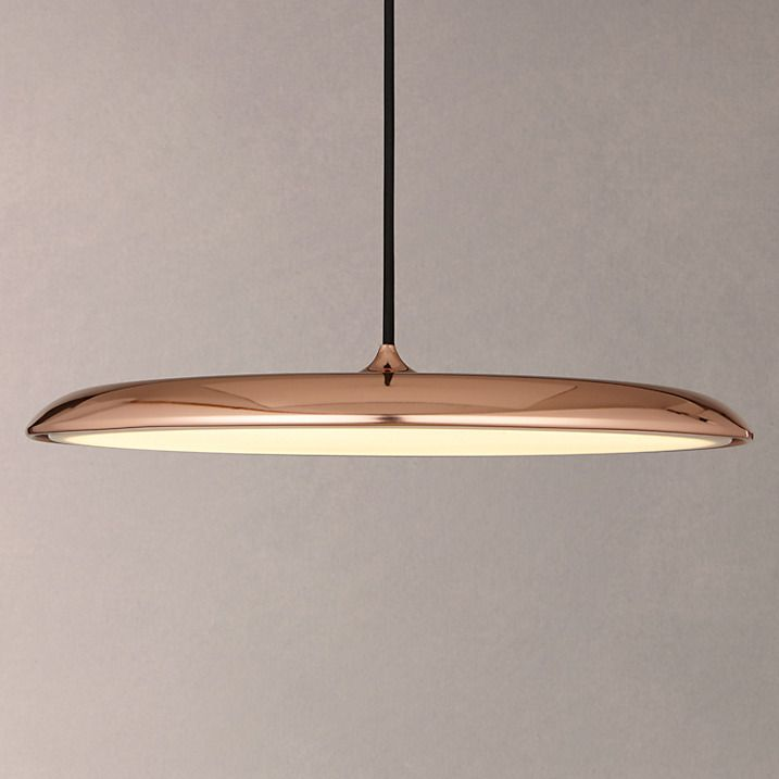 Nordlux Artist LED Large Pendant Light, Copper | Large ...