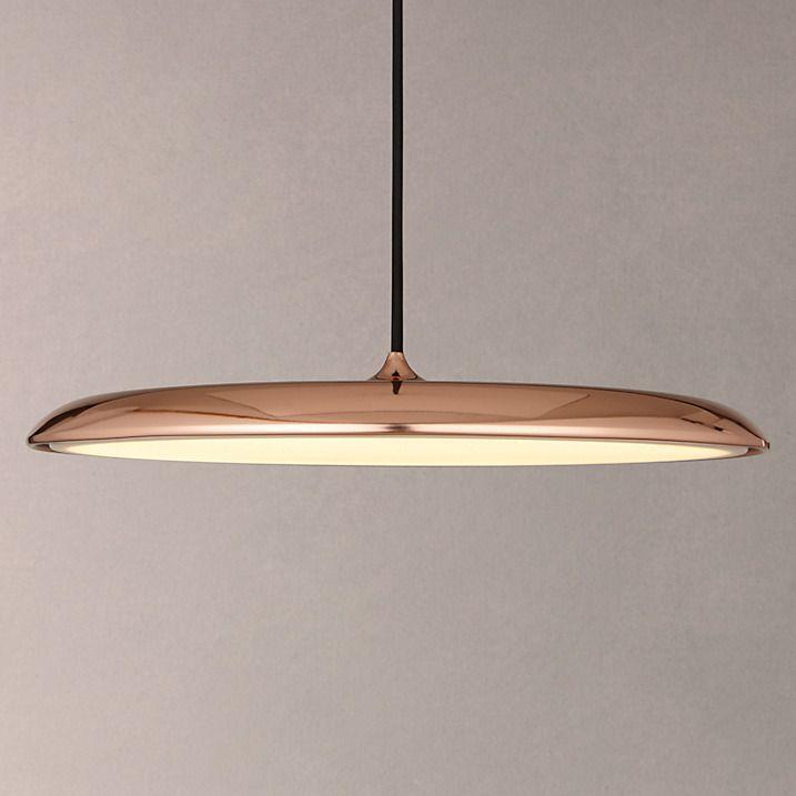 Nordlux Artist LED Large Pendant Light, Copper | Large ...