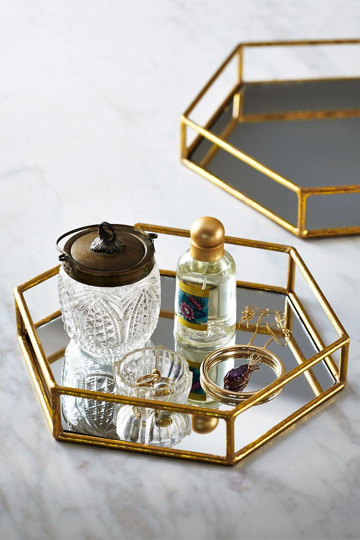 Hexagonal Mirror Tray Home Gifts Wohnideen Dekoration Schlafzimmer Ideen Dekoration
