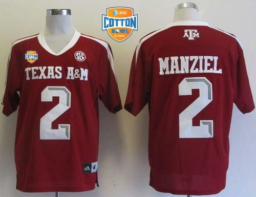 newest 388b7 f9527 Aggies #2 Johnny Manziel Red SEC Patch AT&T Cotton Bowl ...
