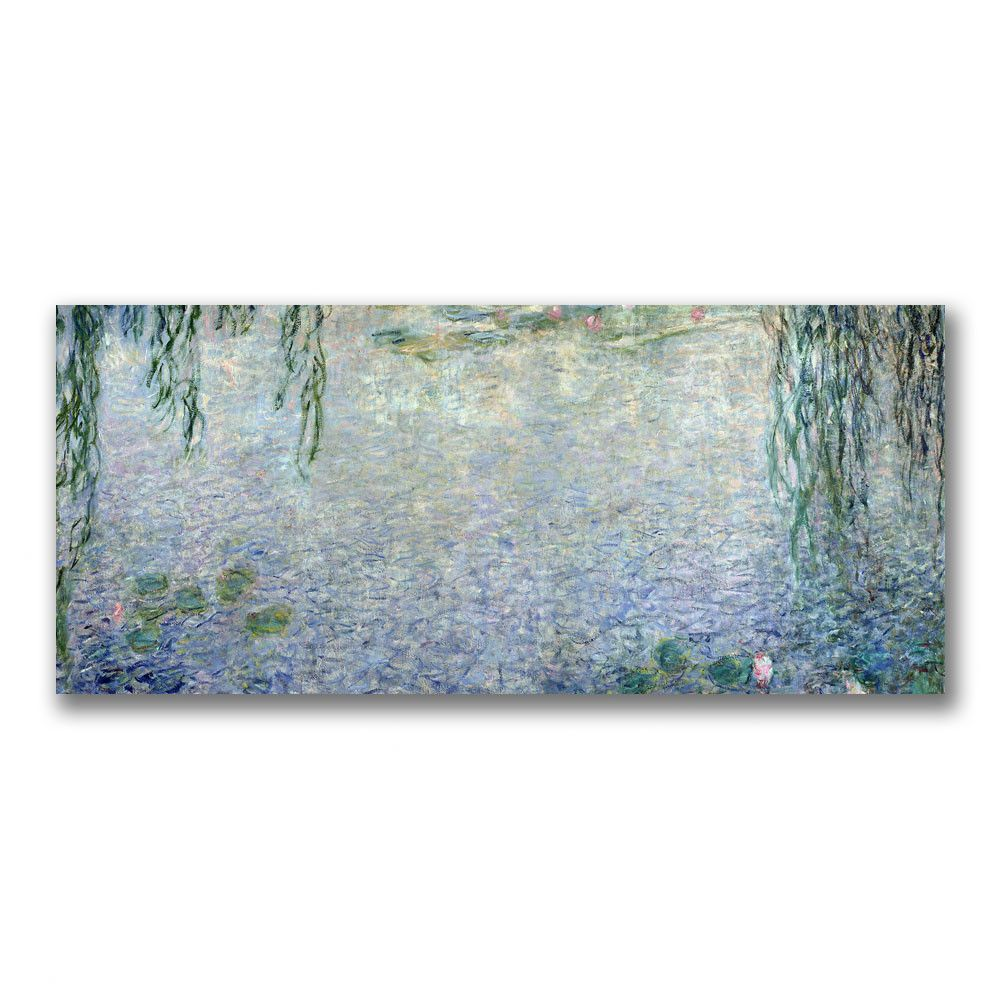 """Trademark Fine Art """"Water Lilies, Morning II"""" by Claude Monet Painting Print on Canvas"""