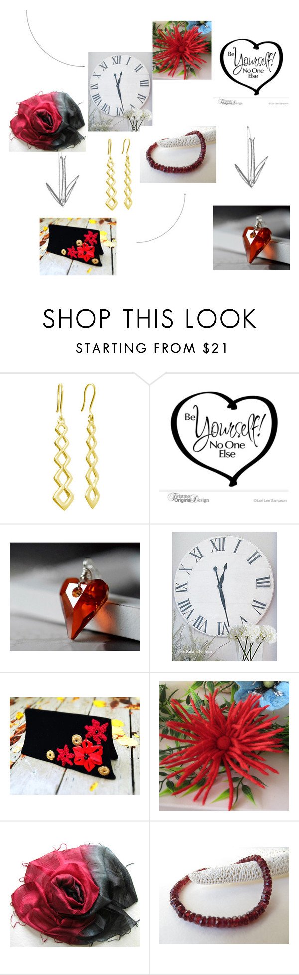 Ready for RED! by msbsdesigns on Polyvore featuring Scialle, WALL and rustic