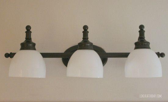 Spray Paint Light Fixture With Rustoleum Metallic Oil
