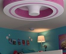 Exhale Le Premier Ventilateur De Plafond Sans Pales Deco Interieure Pieces De Reve Chambre Fille