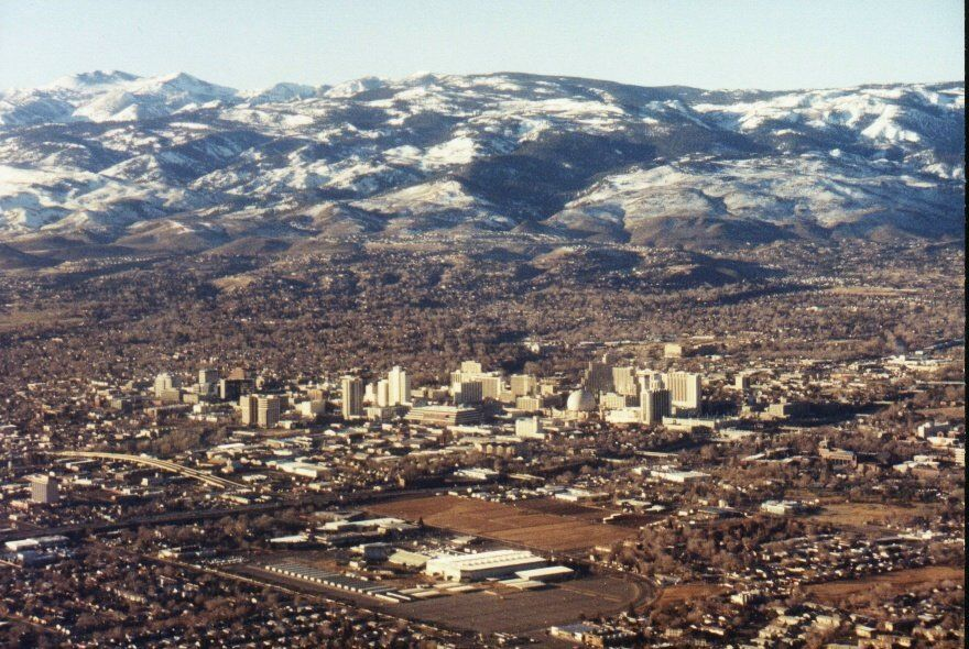 Reno Nv Aerial Photo Of Downton Reno Nevada Photo Picture