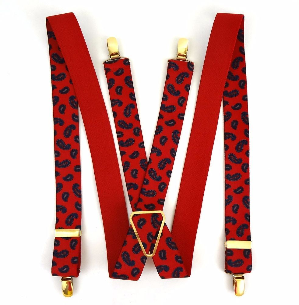 Vintage paisley suspenders! Cool costume accessory! or hipster garnish!