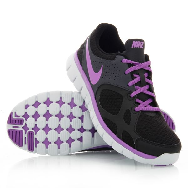 Nike Flex 2012 RN Womens Running Shoes BlackPurple