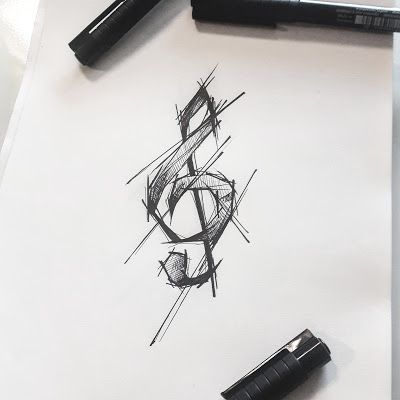 Photo of Clef Tattoo Design by rysaaTATTOO #tattoodesign #tattoo #design #sketch #sketchs …