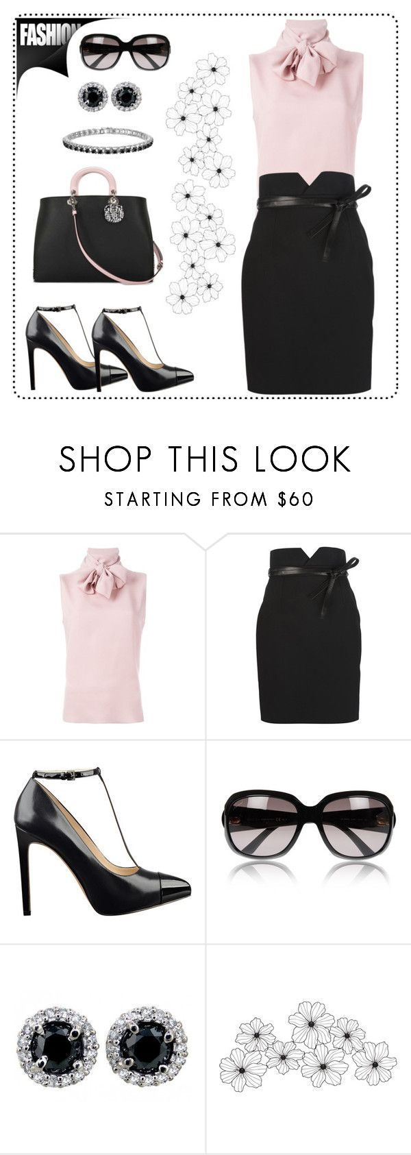 """""""Untitled #761"""" by gallant81 ❤ liked on Polyvore featuring Valentino, Yves Saint Laurent, Nine West, Gucci, women's clothing, women, female, woman, misses and juniors"""