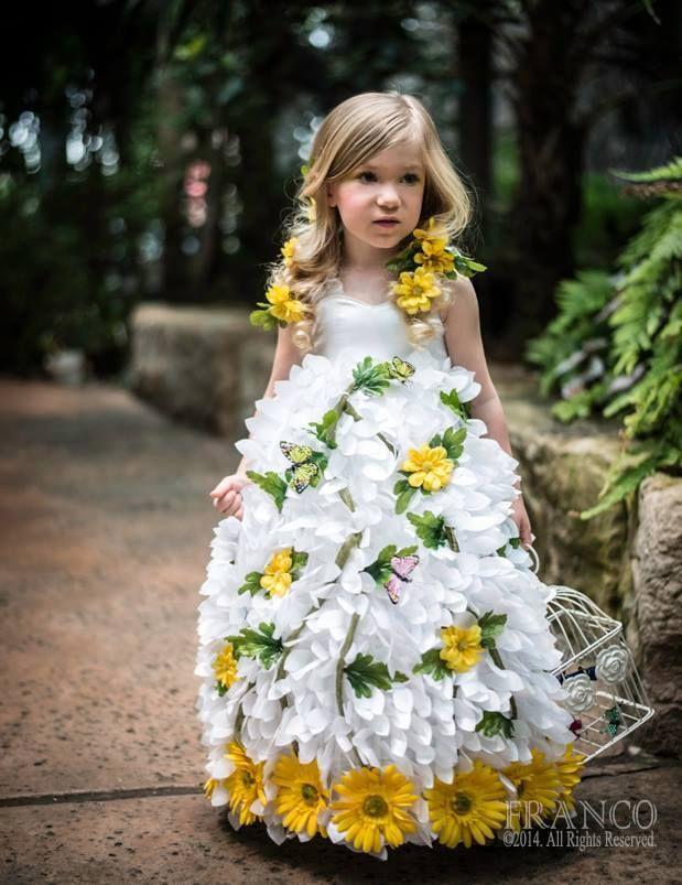 Avant Garde Flower Dress made by Loren Franco Designs (www.LorenFranco.com) Photographer: Edward Franco Photography (www.Francoimages.com) Model: Kylie