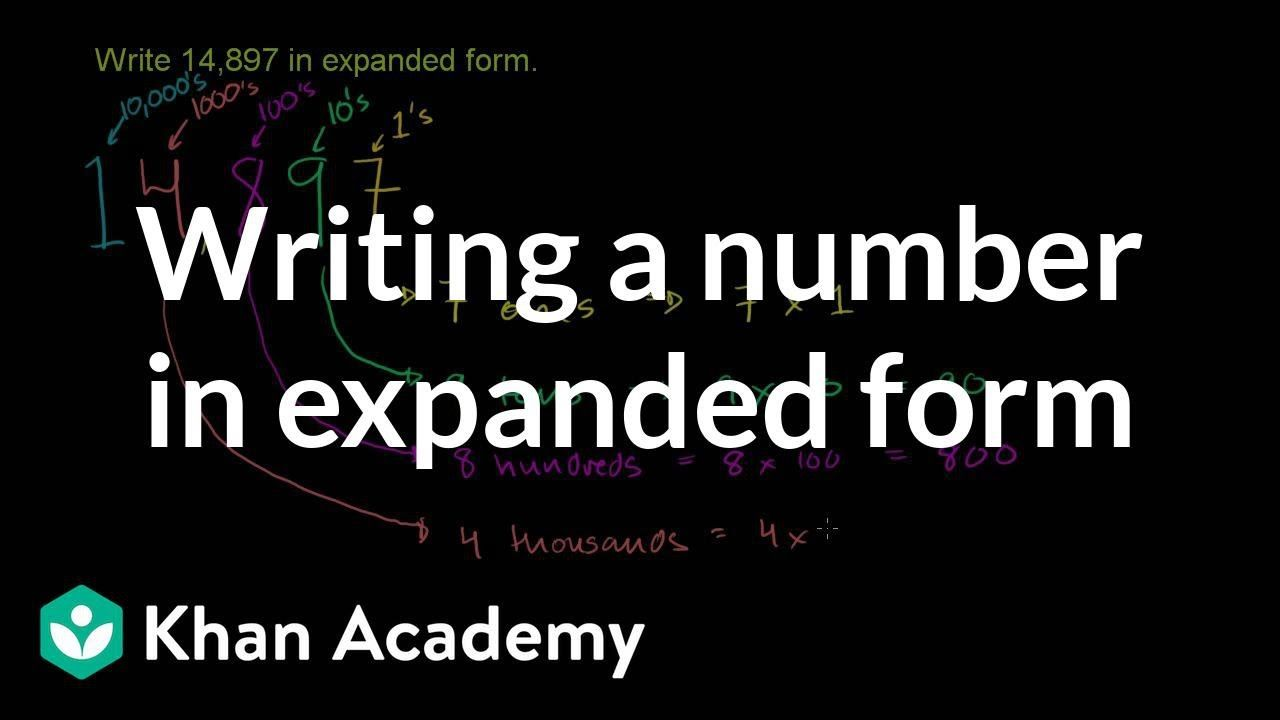 Writing a number in expanded form arithmetic properties