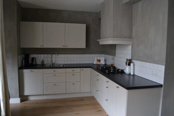 Deze schouw is mooi mooie sierrand om de rechte koof koof keuken pinterest keuken - Keuken rode en grijze muur ...
