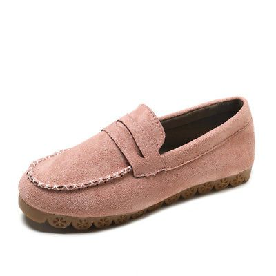 ffd5ab23454 Womens Driving Loafers Moccasin Suede Vamp Casual Shoes Flat Lazy Peas Comfy
