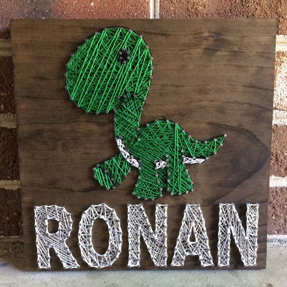 Custom Dinosaur Name Sign String Art Wood Sign Home Decor MADE TO ORDER