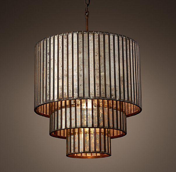 3 tier chandelier modern vitti mirrored 3tier chandelier lighting in 2018 pinterest
