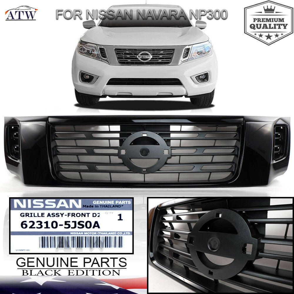 Fit 2015 Nissan Navara Np300 Front Grill Grille Black