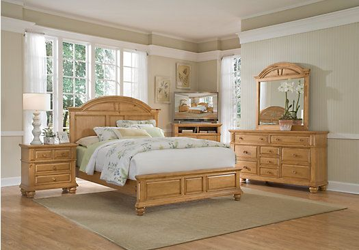 Berkshire Lake Pine 5 Pc King Panel Bedroom Pine bedroom