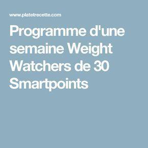 Programme d'une semaine 30 SP - Recette Légère Programme d'une semaine 30 SP - Recette Légère -