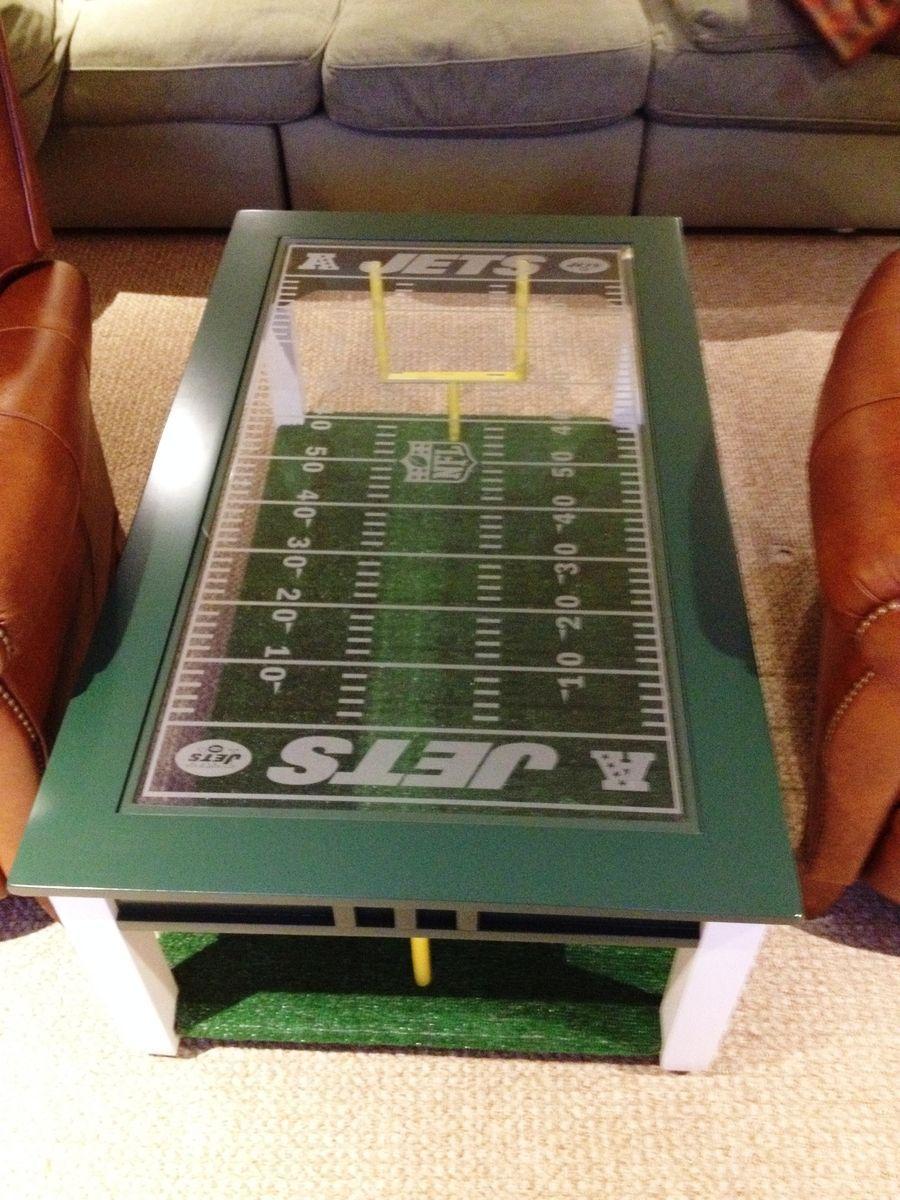 Custom Made Football Fan s Coffee Table 700 man cave