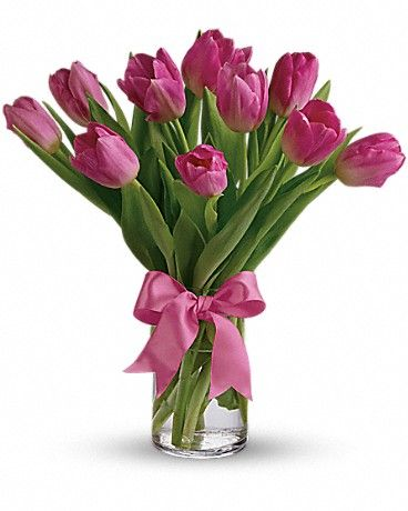Precious Pink Tulips Pink Tulips Bouquet Flower Delivery Tulips Arrangement