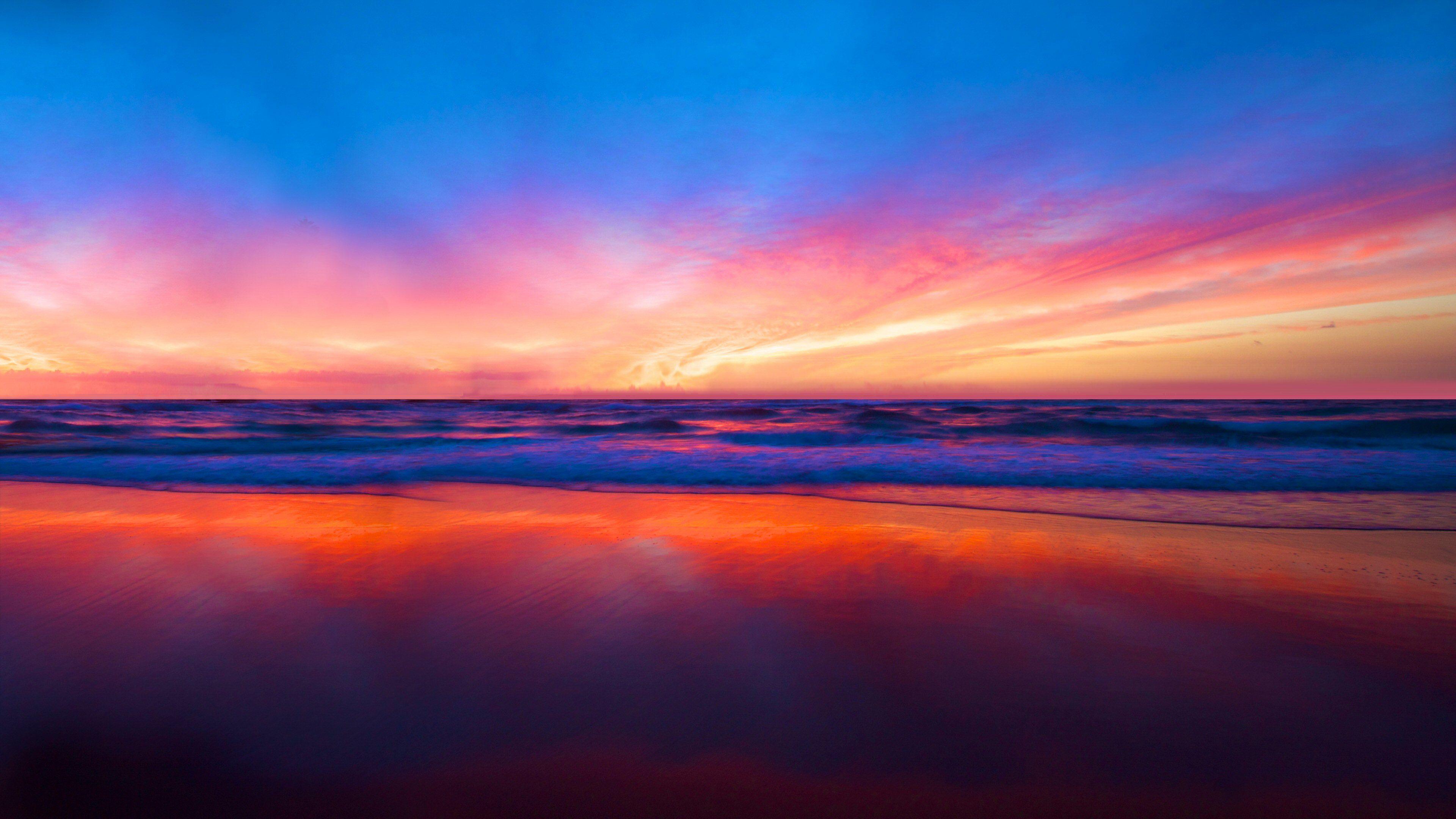 Download Wallpaper 3840x2400 Sea Sunset Clouds Night Shore 4k Ultra Hd 16 10 Hd Background Hd Wallpaper Sunset Wallpaper