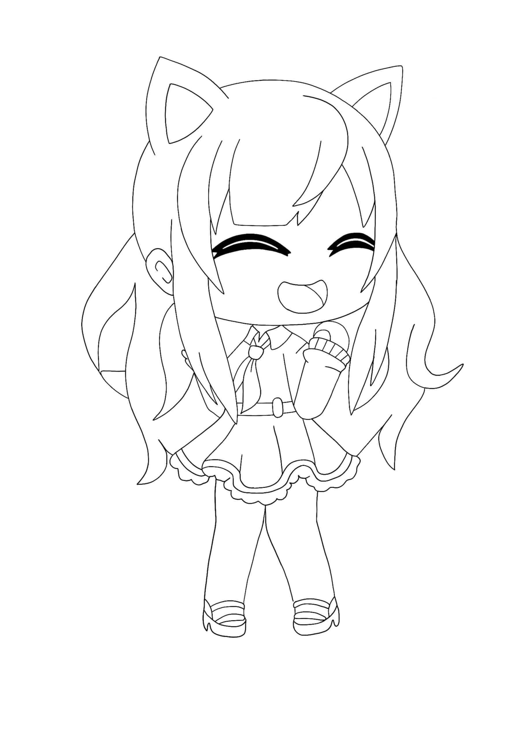 Kawaii Chan Girl coloring page  Coloring pages, Cute dragon