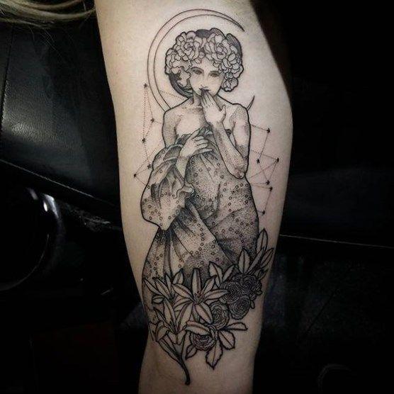 Art Nouveau Flower Tattoo: #designtattoo #tattoo Turtle Symbol Tattoo, Rose Vine Arm