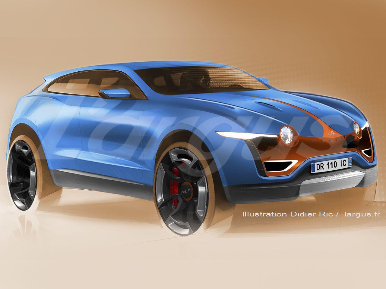 Scoop ax1 2018 le futur suv d 39 alpine concepts vehicles pinterest voitures et motos - Croquis voiture ...