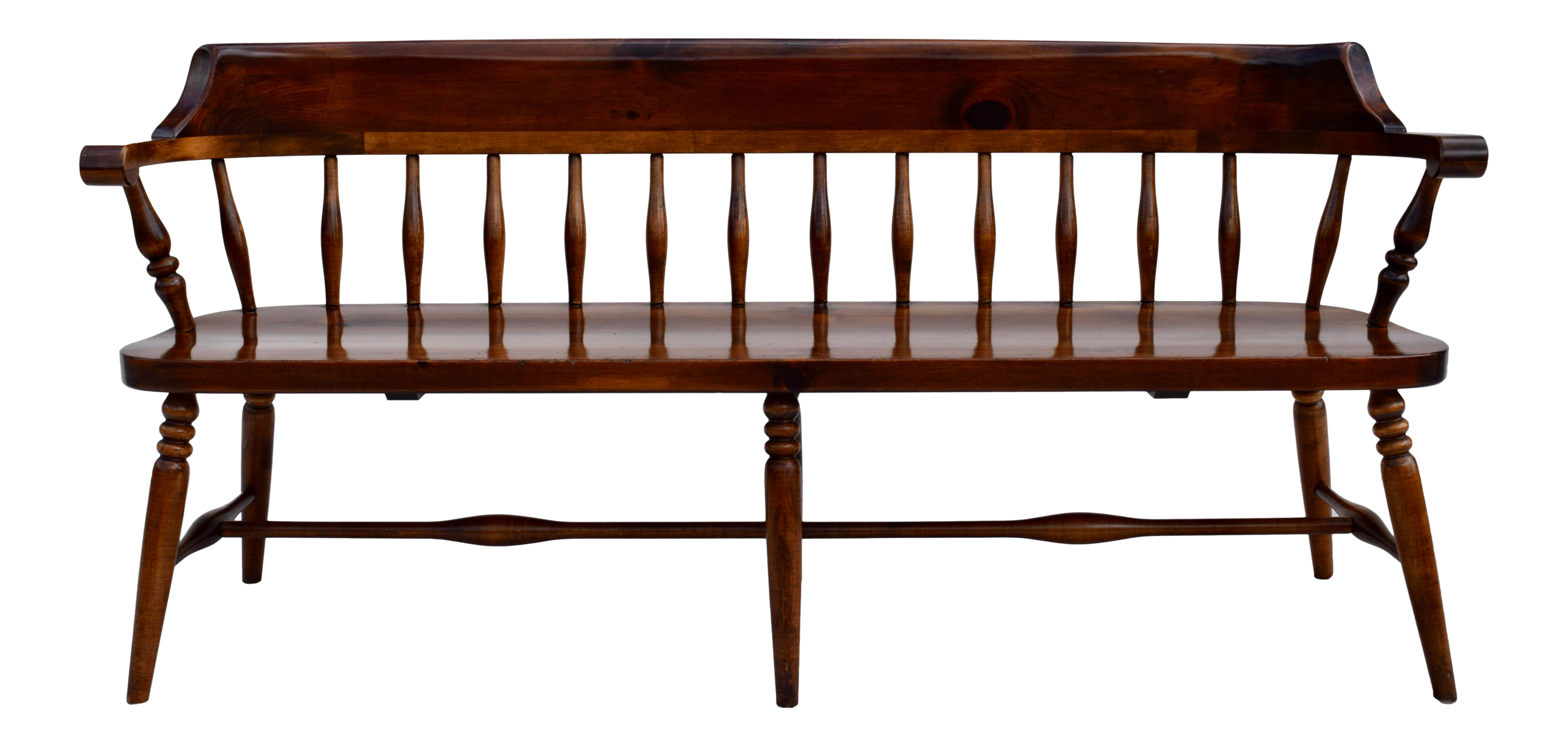 Farmhouse Pine Spindle Back Bench on