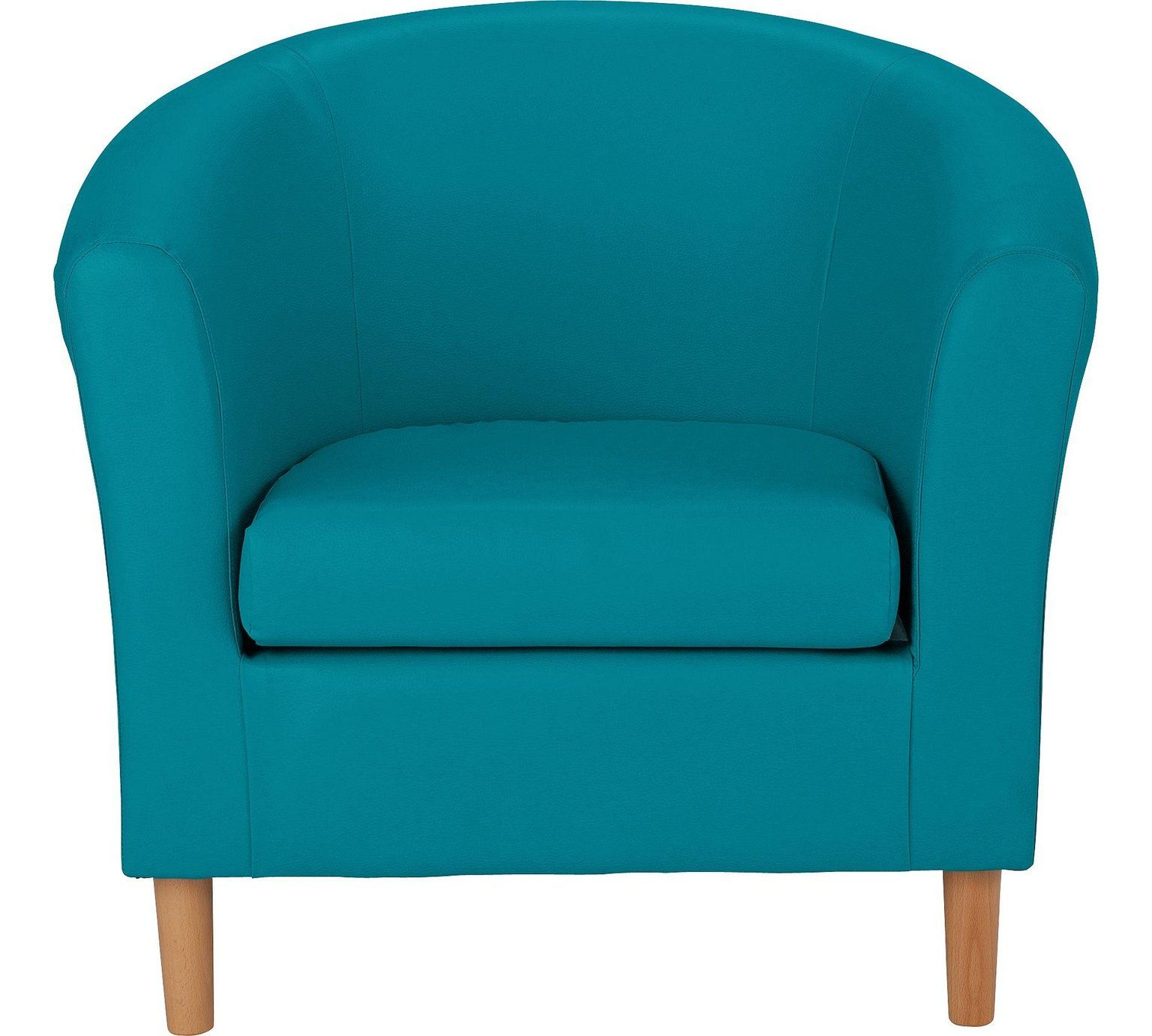 Buy HOME Leather Effect Tub Chair - Lagoon at Argos.co.uk, visit ...