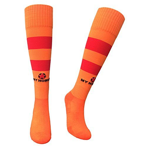 MY HONGX Athletic Stripe Compression Football Soccer Socks for Women Men Running Sports