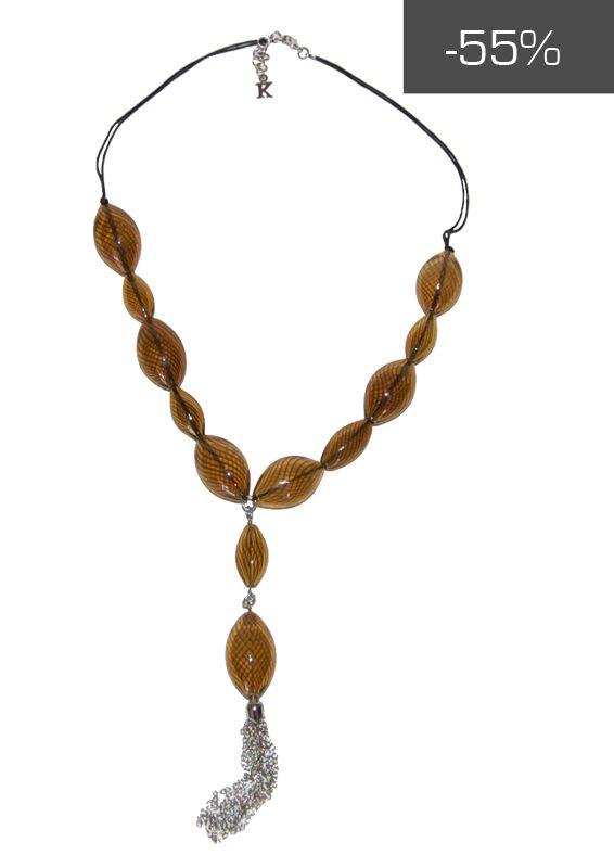 #kookai #jewels - Collana con pendenti color oro e catenelle a maglia piccola