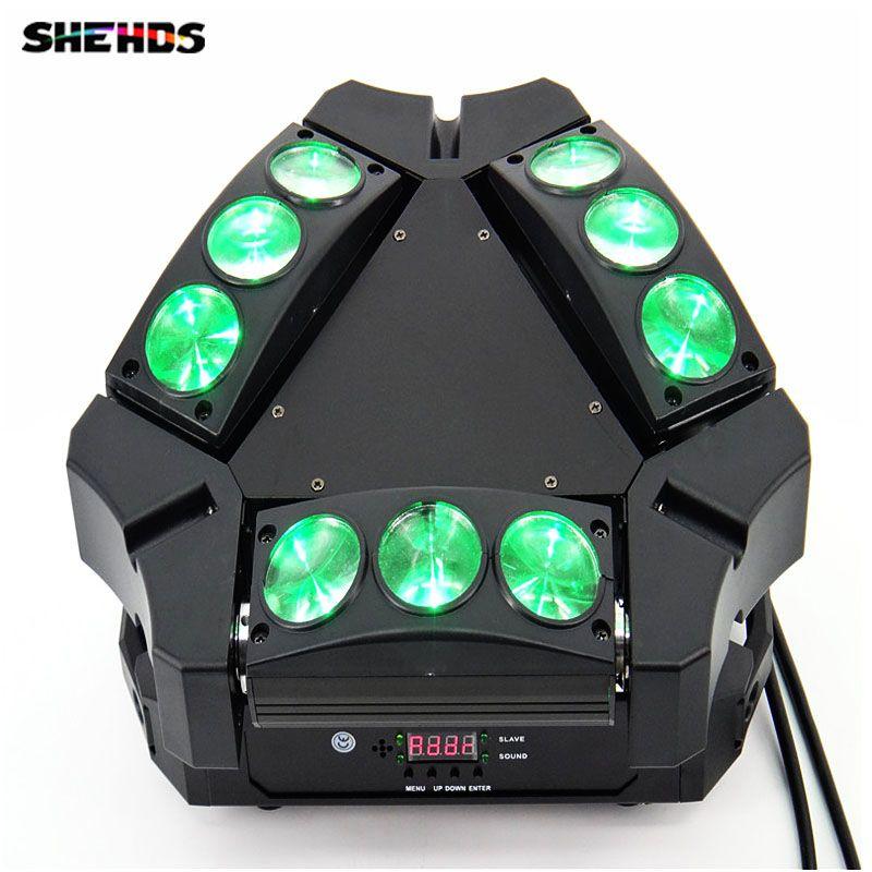 Best Price Disco Light 9x10w 4in1 Adj Kaos 3 Heads Mini Led Spider Moving Head Light Disco Light Light X W X W Disco Lights Led Party Lights Spider Light